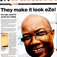 PR Coverage by Bare Bones Marketing for Eze-Talk Coverage In Business