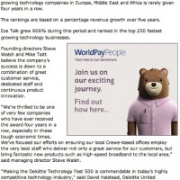 PR Coverage by Bare Bones Marketing for Eze-Talk on Deloitte Award Crewe Chronicle