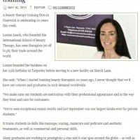 PR Coverage by Bare Bones Marketing for ISOBT in The Nantwich News