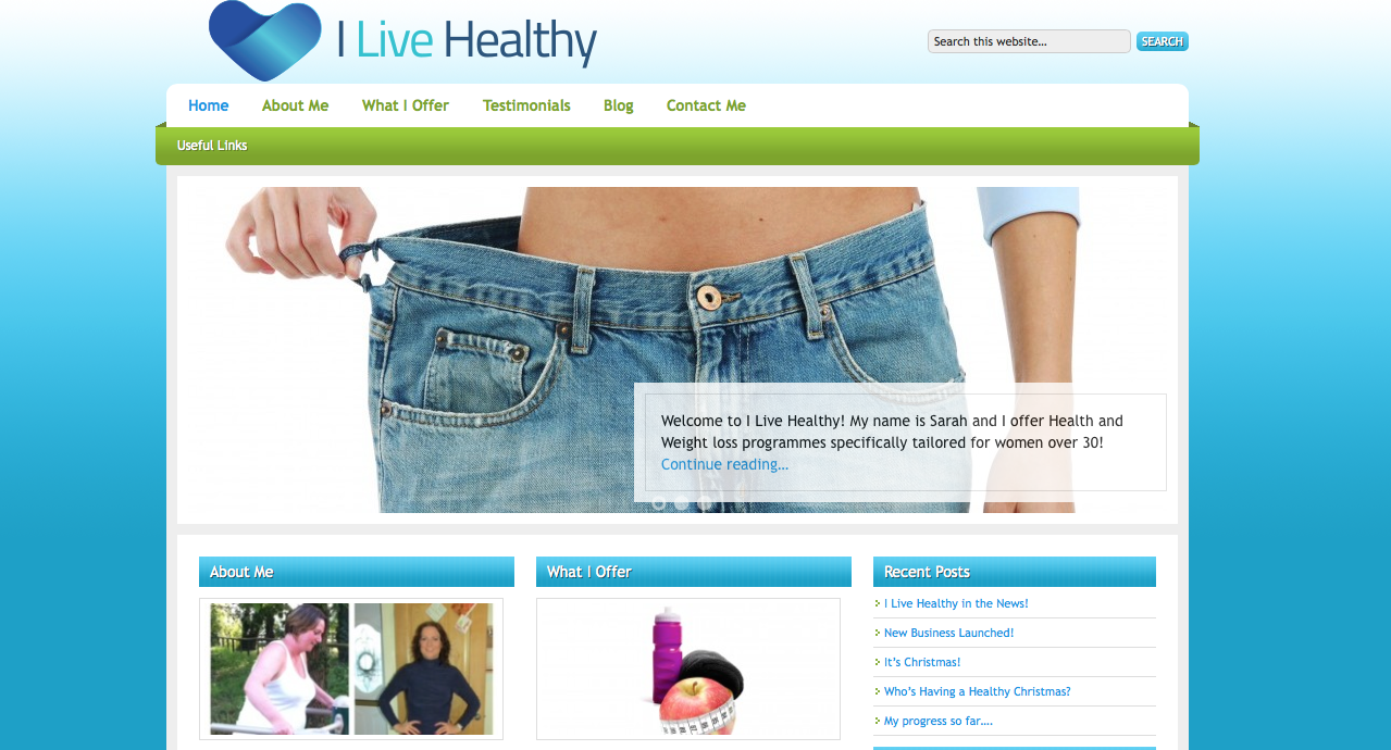 I Live Healthy Website