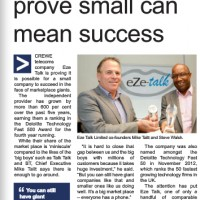 PR Coverage by Bare Bones Marketing for Eze-Talk in Cheshire Business Update Magazine