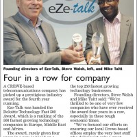 PR by Bare Bones Marketing for Eze-Talk in Crewe Guardian