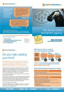 Brochure For Easy Online Recruitment By Bare Bones Marketing