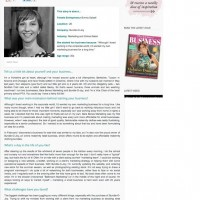 Bare Bones Marketing Female Entrepreneur PR Coverage