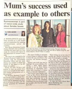 Women's Business Council Bare Bones PR Case Study Middlewich Guardian 19/06/13