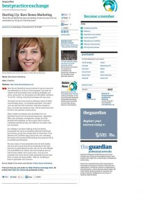 PR Coverage for Bare Bones Marketing in The Guardian