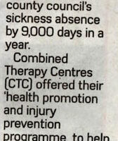 CTC Physio Staffordshire Newsletter PR Coverage