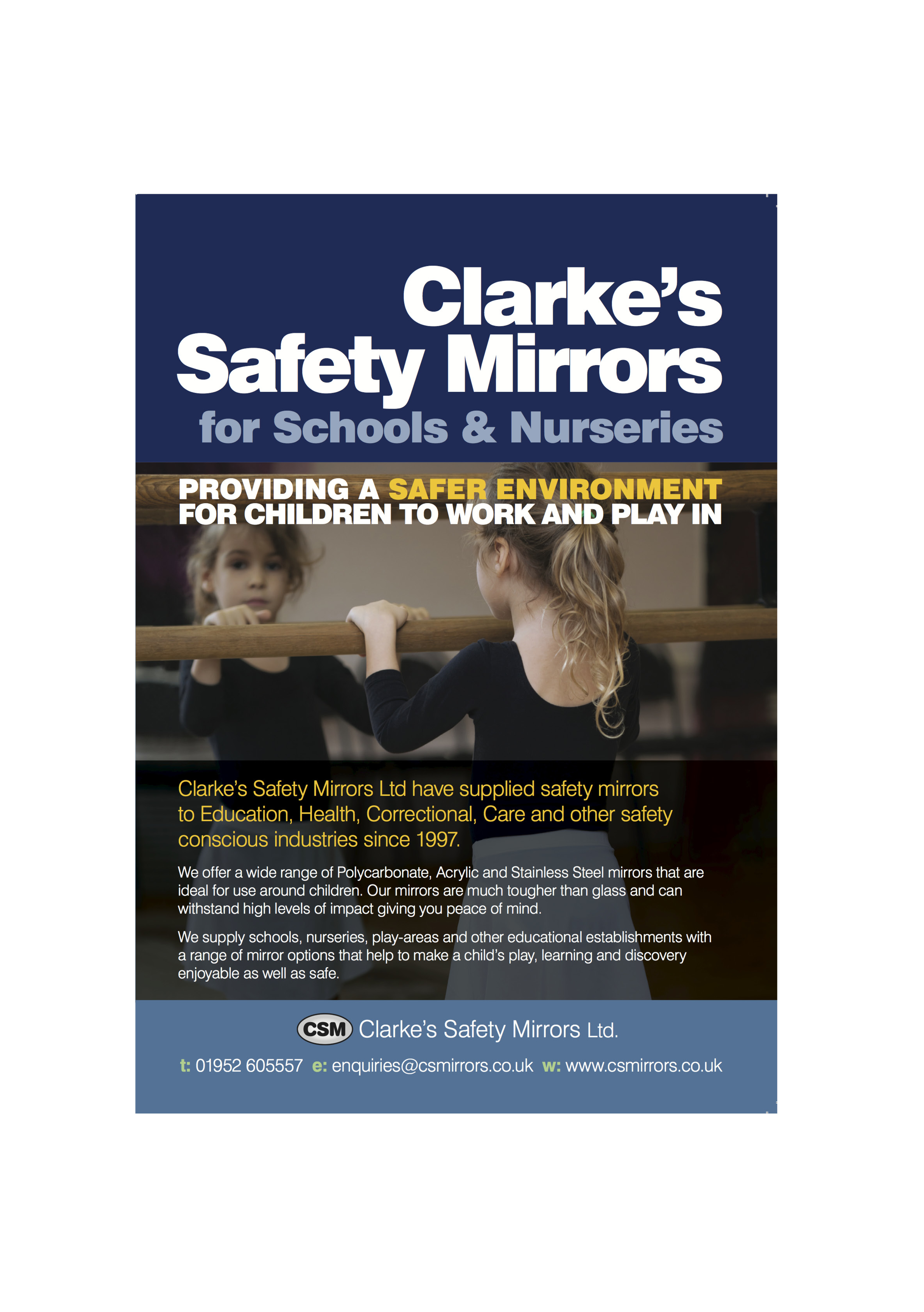 Direct Mail Leaflet for CS Mirrors by Bare Bones Marketing