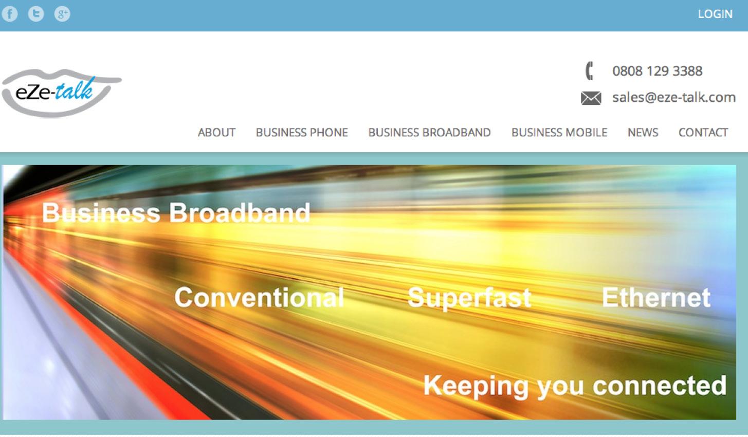 Eze Talk Business Website Project