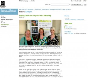 PR Coverage for Bare Bones Marketing at MMU