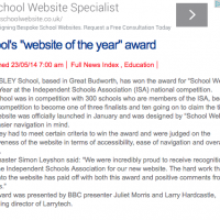 Website Award WW Coverage